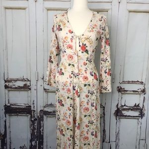 ARNHEM prairie dress floral long sleeve button S